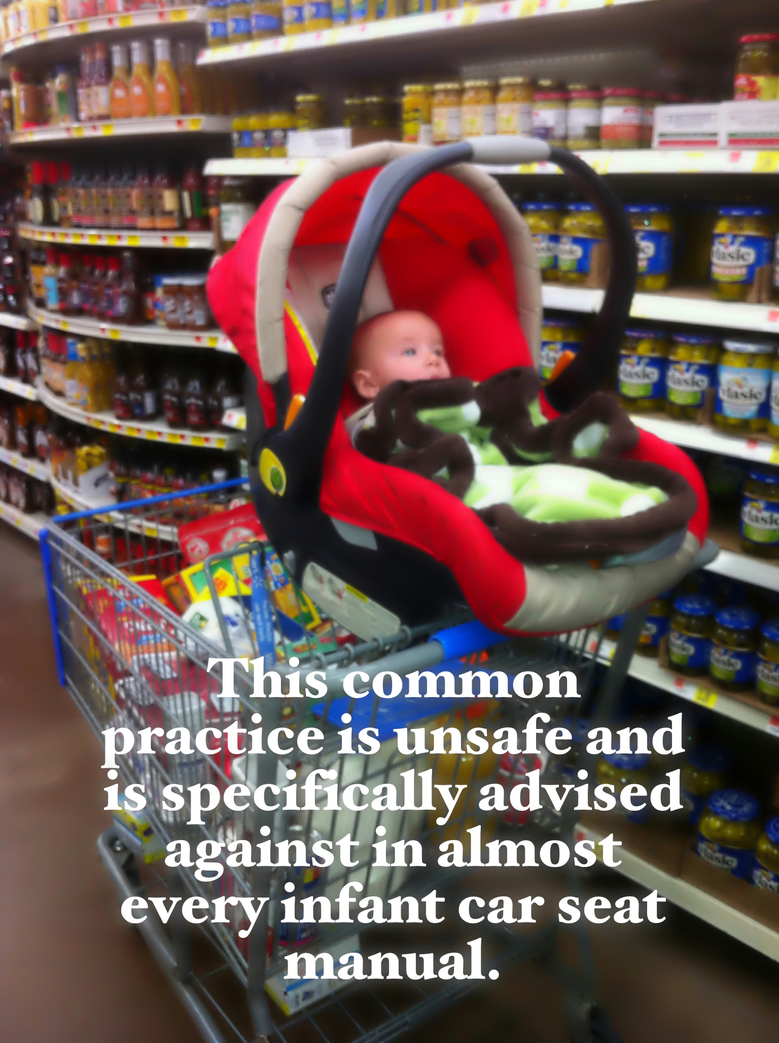 Infant Car Seat In A Grocery Cart